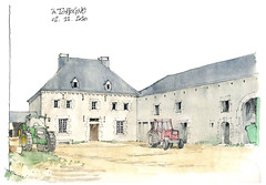 Ferme à Tohogne (gerard michel) Tags: architecture sketch aquarelle watercolour croquis tohogne