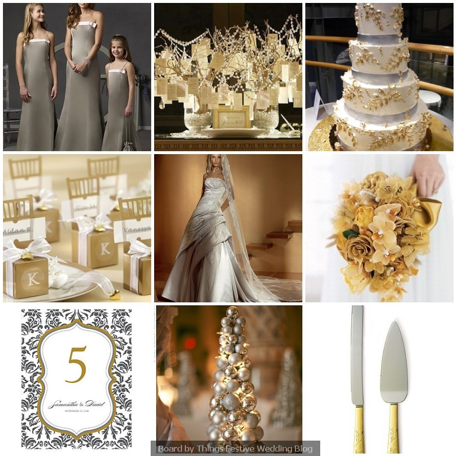 Brown And Gold Wedding Ideas: Silver And Gold Wedding Theme