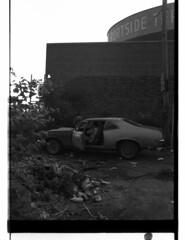 Nova (Jersey City, 1984) (robertklurfield) Tags: street bw film blackwhite newjersey jerseycity worldtradecenter nj 1984 hudsonriver wtc 1983 statueofliberty 1980s plusxpan 35summicron colgatepalmolive leicam4 worldslargestclock 50drsummicron kodak5062