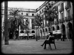 Plaa Reial (Marinnae) Tags: barcelona espaa palmeras palm catalunya espagne plazareal catalua barcelone palmiers espanya placeroyale plaareial catalogne flickrchallengegroup flickrchallengewinner