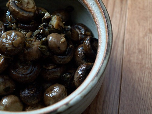 Roasted Mushrooms Escargot-Style