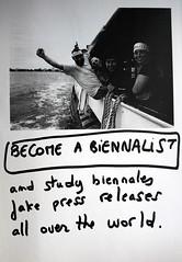 Biennalist Recruiting Poster 2011.