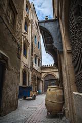 Alleys of Essaouira (gseglenieks) Tags: morocco essaouira oldtown historic alleys alley pot cart explore adventure travel wanderlust village hidden secret quiet backalley outdoors buildings houses homes