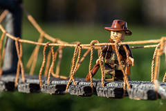 Indiana Jones (Ballou34) Tags: 2016 7dmark2 7dmarkii 7d2 7dii afol ballou34 canon canon7dmarkii canon7dii eos eos7dmarkii eos7d2 eos7dii flickr lego legographer legography minifigures photography stuckinplastic toy toyphotography toys stuck in plastic bridge indiana jones adventure adventures rope paris îledefrance france fr