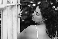 Océane. (Nicolas Fourny photographie) Tags: canon 600d 50mm model portrait portraiture womanportrait girlportrait beauty beautifulgirl beautifulwoman sensual sensuality brunette beautifulbrunette longhair blackandwhite noiretblanc bw dof depthoffield profondeurdechamp bokeh naturallight whitedress romanticism gorgeous