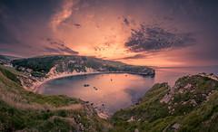 Lulworth Cove (Glenn 07) Tags: lulworth lulworthcove dorset sunrise landscape seascape summersolstice crackofsparrows panorama durdledoor jurassiccoast glenn07 canon5dmkiv 2470mm manfrotto