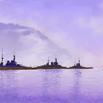 Royal Navy Battle Cruisers in Harbour thumbnail