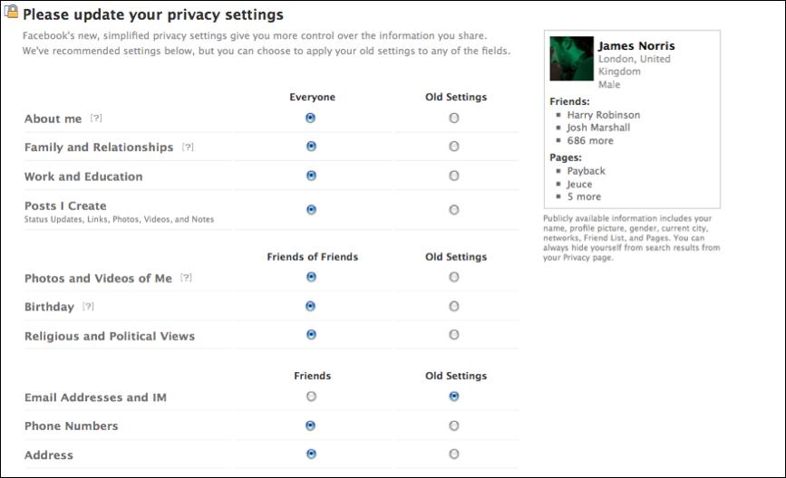 Facebook Security Status