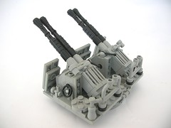 Bofors 40mm AA Cannon rear (Lego Monster) Tags: lego navy cannon guns 40mm usnavy aa antiaircraft bofors