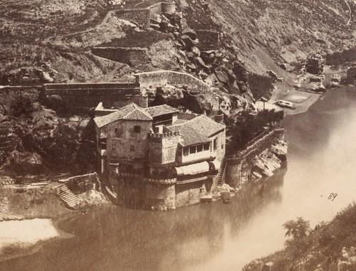 Casa del diamantista en 1857. Fotografía de Charles Clifford (detalle)