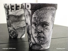fedor emelianenko (Boy Obsolete) Tags: cup last sketch russia drawing experiment pride sharpie ufc affliction emperor boey pointalism fedor sambo stippling mma strikeforce emelianenko iamboey