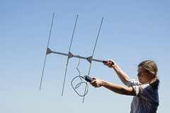 National Park Ranger demonstrates radio antennae used to track Channel Island Foxes (kmanohar) Tags: california usa beautiful spectacular island islands nationalpark ranger nps hiking unitedstatesofamerica scenic hike trail pacificocean sanmiguel nationalparkservice southcoast westcoast lester channelislands nativeamericans pacificcoast californiacoast cabrillo radiotracking chumash centralcaliforniacoast santabarbarachannel channelislandsnationalpark sanmiguelisland beautifulcalifornia californianatives islandfox radiocollar zoologist animalconservation juanrodriguezcabrillo outerisland chumashindians californiahiking nationalparkranger remoteisland animaltracking urocyonlittoralis californiaanimals channelislandsfox cinp californiaisland californiaislands californiariviera cabrillocalifornia sceniccalifornia foxradio spectacularcalifornia lesterranch islandoffcalifornia southerncoastofcalifornia californiachumash californiaindians californianativeamericans outerchannelislands channelislandsnationalparkhiking channelislandshiking nativefox sanmiguelfox sanmiguelislandfox californiafox californiaanimalconservation foxtracking nationalparkzoologist
