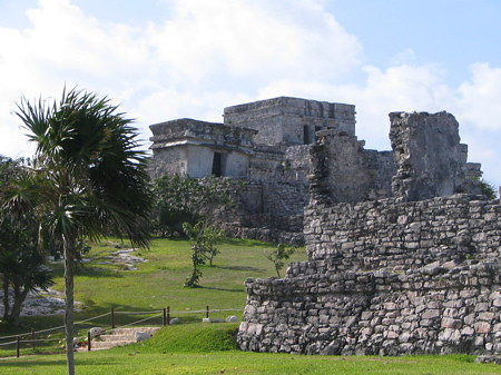 View of castille at Tulum ruins