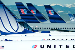United Airlines 2 (Ben Canales) Tags: travel plane airplane flying airport air united airplanes flight denver terminal boeing airlines unitedairlines airflight