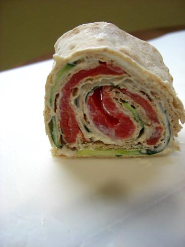 Salmon roll-ups