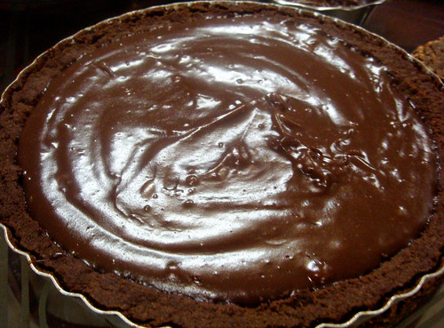Chocolate pudding pie