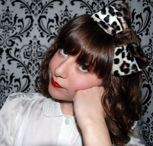 DIY Leopard Bow