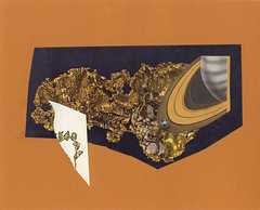 Home Planet,                                       Sitting On The Golden Rings Of Saturn (jody-rodgers) Tags: sea orange floral collage illustration gold earth rings saturn 2009 jodyrodgers