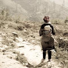 A long way home (Kit_Photos) Tags: black village vietnam sapa hmong blackhmong earthasia kitphotos