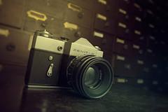 Zenit (2create) Tags: camera old canon vintage lens antique objects mk2 5d f2 58mm 1740mm draws helios speedlite zenitb 430ex
