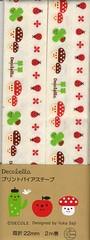 Mushroom and Ladybug Bias Tape (This and That From Japan) Tags: cactus mushroom japan japanese designer tape ladybird ladybug trim bias decole decolello japanesebias yukasaji