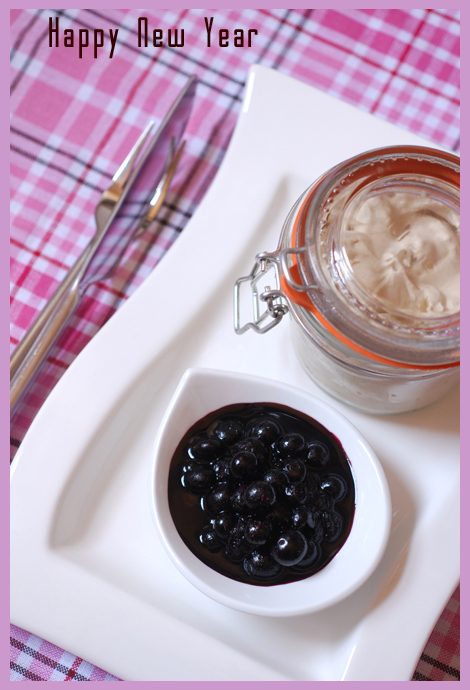 brandy butter and blueberry compote© by Haalo