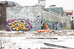 Brooklyn winter wonderland (carnagenyc) Tags: nyc newyork brooklyn graffiti yeti fireextinguisher slob adhd gats cecs deeker cecso leks gaser creepcult