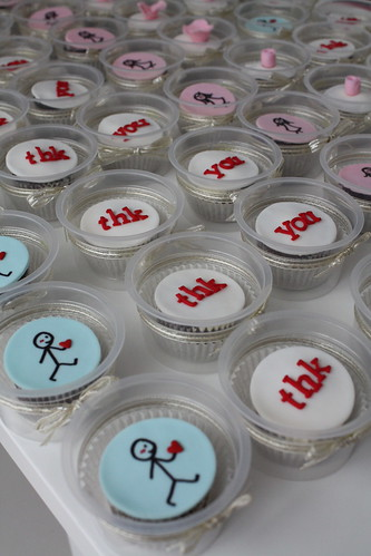 Thank You Wedding Cupcakes