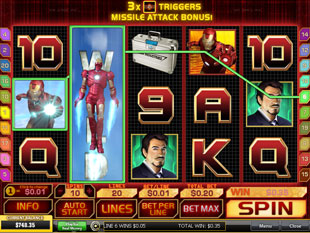 free Iron Man gamble bonus game