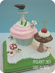 Cake Topper ~ Cupcake Sculpture (Pinks & Needles (used to be Gigi & Big Red)) Tags: cake polymerclay day6 topper sculpted project365 gigiminor pinksandneedles