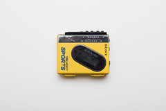 Sony WM-F75 Walkman (splorp) Tags: white canada calgary yellow portable walkman interior sony plastic alberta cassette audio obsolete obsolescence
