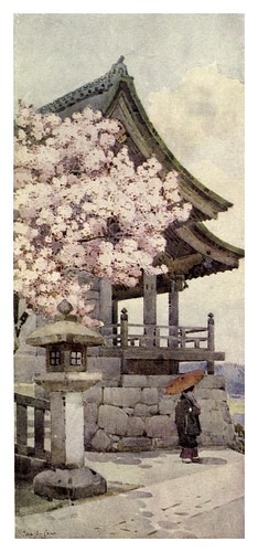 018- Cerezo en Kyomidzu-The flowers and gardens of Japan (1908)-  Ella Du Cane