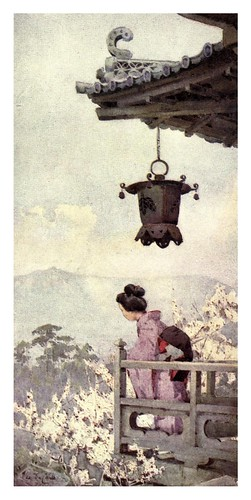 013- Contemplando la flor del ciruelo-The flowers and gardens of Japan (1908)-  Ella Du Cane