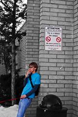Tobacco Free... (Andrew Bish Photos) Tags: school bw white black campus cigarette smoke free smoking coloring anti tobacco selective