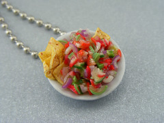 Custom Made Mexican Salsa Necklace