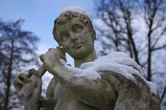 Pan statue (Chris Taylor Pictures) Tags: winter kewgardens snow statue kew pipe pan royalbotanicgardens
