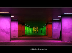 Tunnel Of Colors (DolliaSH) Tags: city longexposure blue light red urban color green colors architecture night canon photography lights noche photo rainbow rotterdam topf50 europe foto purple nightshot photos nacht nederland explore le topf150 topf100 frontpage nuit notte topf200 nai stad noch zuidholland 1755 kleuren nachtopname nederlandsarchitectuurinstituut visitholland canonefs1755mmf28 mywinners canoneos50d specialpicture dutcharchitectureinstitute dollia 100commentgroup dollias sheombar dolliash