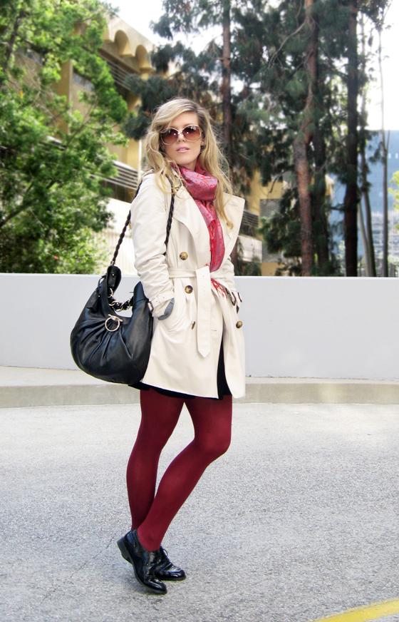 Burberry-Trench-Coat-wine-tights-lbd-Ferragamo-bag-brogues-5