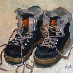 My Boots (lizaart) Tags: stilllife shoes dailypainting lizahirst lizaart