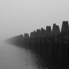 Cramond causeway in the mist