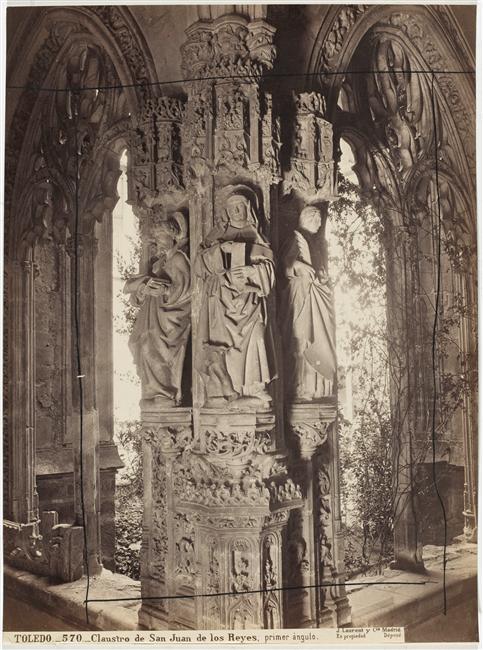 Claustro de San Juan de Los Reyes hacia 1870. Fotografía de Jean Laurent. (C) RMN (Musée d'Orsay) / Hervé Lewandowski