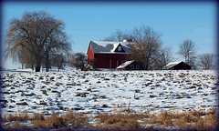 Country Life ~ (Piscesgirl2~been away back now) Tags: winter snow ontario canada nature farmhouse barn countryside soe bluewinnerribbon theperfectphotographer goldstaraward absolutelystunningscapes