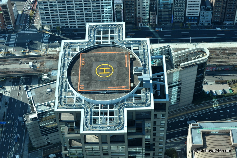 Lots of buildings had helicopter pads.