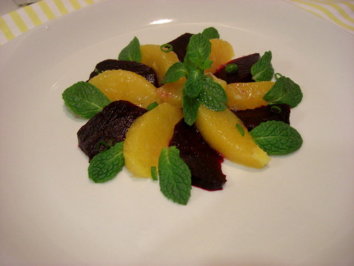 Salad with beets and oranges