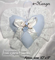 Light blue victoria heart  sachet (Victoria) Tags: handmade hcc scented ringpillow weddingpillow handcraftedsachets victoriajoanne