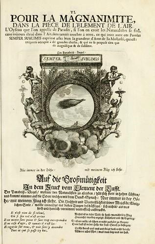 008- Divisa del tapiz el aire para la magnanimidad-Tapisseries du roy, ou sont representez les quatre elemens 1690- Sebastien Le Clerc