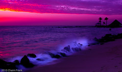 Purple Haze (jetrated) Tags: pink sunset sea sky seascape beach netherlands strand landscape island atardecer mar zonsondergang