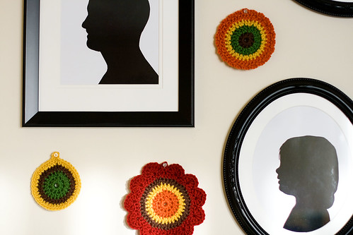 crochet + silhouettes = happy wall