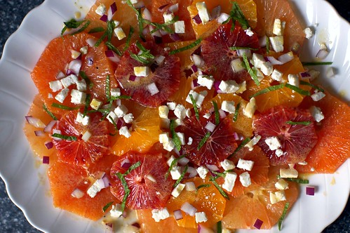 mixed citrus with feta, mint and onion