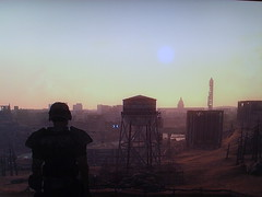 Wasteland () Tags: camera sunset 3 photo washington screenshot character captured armor combat playstation wasteland camshot fallout ps3